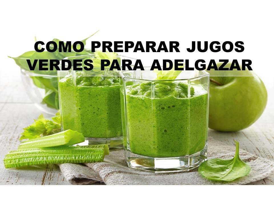 Licuados de frutas y vegetales para bajar de peso
