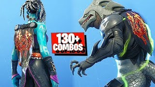 Cape Fortnite com crista derretida (lava Legends Pack back bling) com 130 + skins e Styles combos