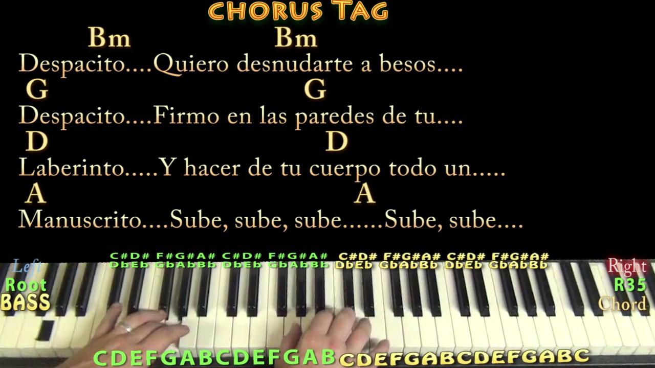 Despacito luis fonsijustin bieber piano lesson chord chart in despacito luis fonsijustin bieber piano lesson chord chart in bm with chordslyrics hexwebz Gallery
