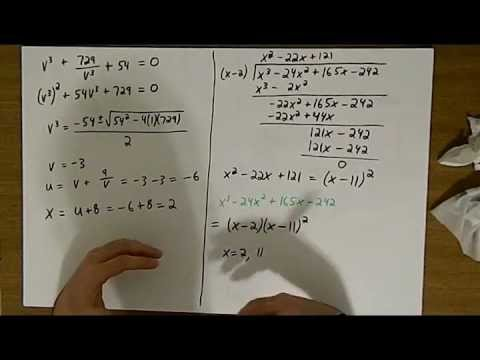 how to find the roots of a cubic