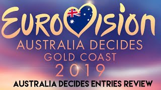 Eurovision Australia Decides entries review Part 1 | Spain, Belgium & Netherlands entries