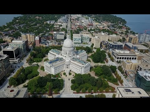 Madison, Wisconsin Drone Footage