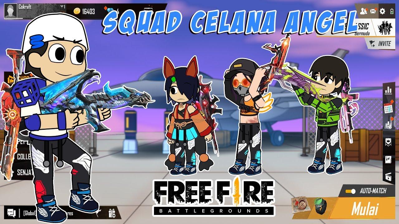 Animasi Free Fire - Mamat Squad Pake Celana Angel Map Bermuda Auto Rata