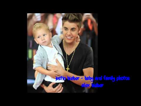 justin bieber - baby and family photos