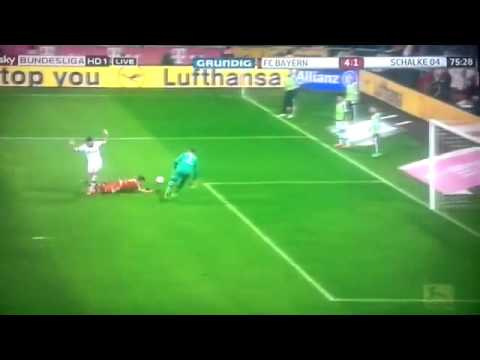 Papadopoulos Red Card | FC Bayern Munich 5-1 Schalke 04 | Bundesliga 01/03/14