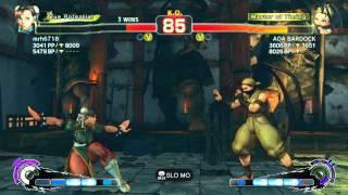 "AE 2012 ""Challenge Series"" mrh6718 (Chun-Li) Vs AOA BARDOCK (Sakura/Ibuki) XBL Ft5 Ep. 2"