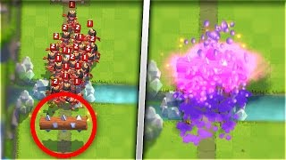 LOG Vs 19 PRINCESSES! HOW MANY TROOPS Can The Log KILL In Clash Royale!?