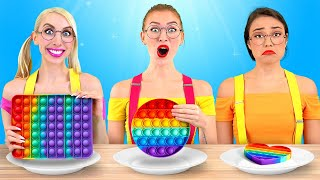 NO HANDS vs ONE HAND vs TWO HANDS EATING CHALLENGE! Funny Food Situations with Real Sound by BRAVO!