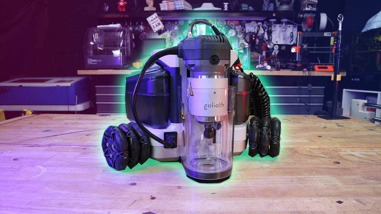First Look: The Goliath CNC Robot - Cuts full sheets but fits in a backpack
