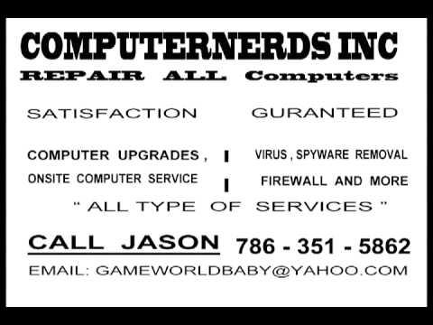 computernerds inc computer repair free e-video business card silver