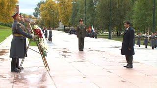 Президент Филиппин возложил цветы к могиле Неизвестного Солдата в Москве