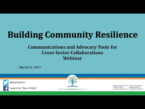BCR Webinar: Communications and Advocacy Tools for Cross-Sector Collaborations