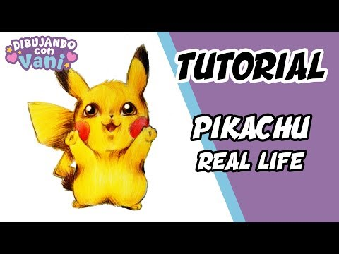 COMO DIBUJAR A PIKACHU EN LA VIDA REAL - DIBUJOS ANIME FACILES - how to draw pikachu in real life