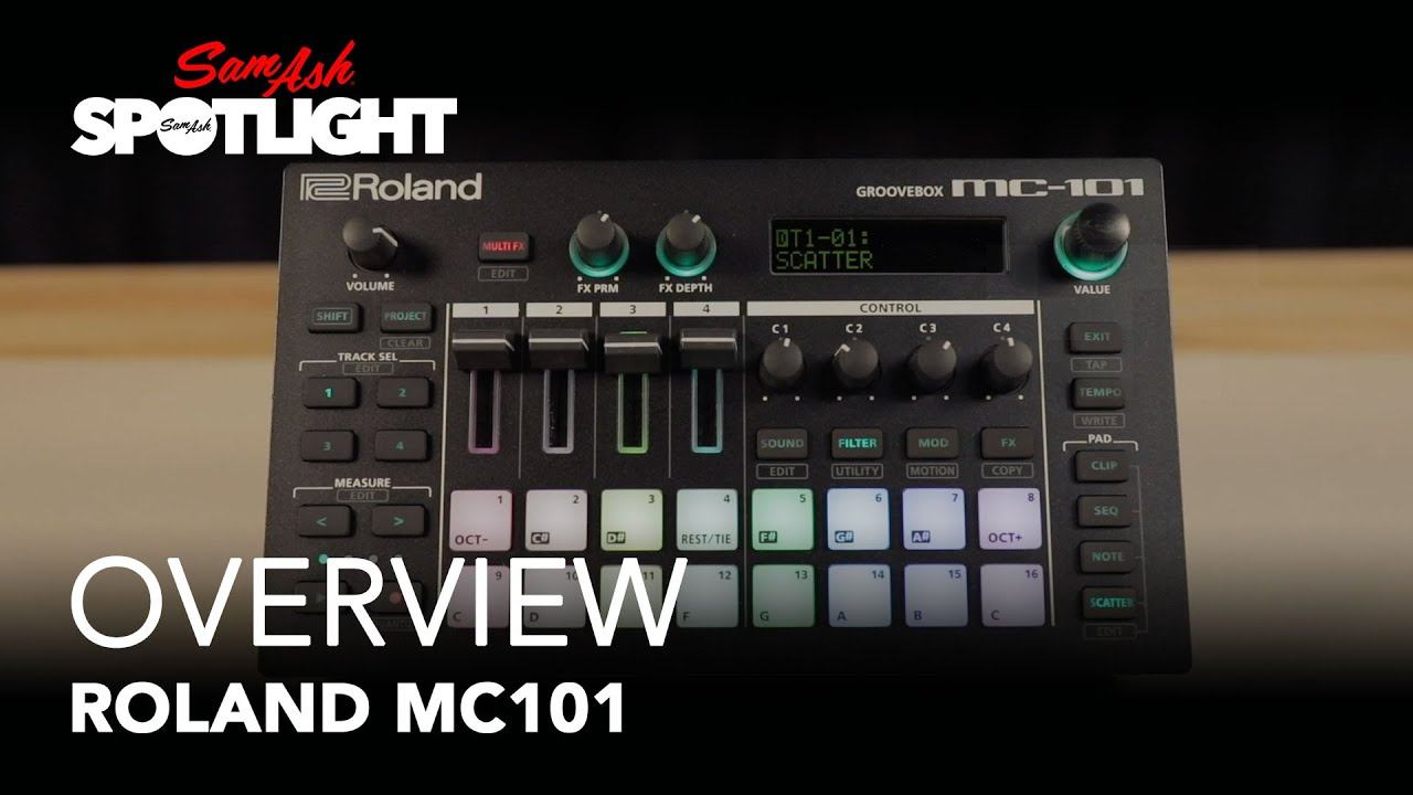 Roland MC-101 | Overview | Sam Ash Spotlight