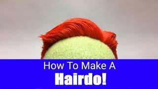 How To Make A Hair Style For Your Puppet! - Part 5 - Puppet Building 101