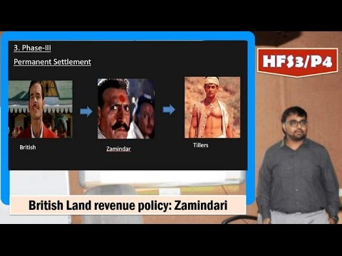 HFS3/P4: British India: Land Revenue System-Zamindari & permanent settlement