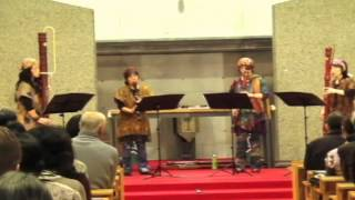 2012年11月24日(ルーテル広島教会) 燕の国・雨降る夏・花の容・室内楽のための習作 演奏:ブレーメン(リコーダー)