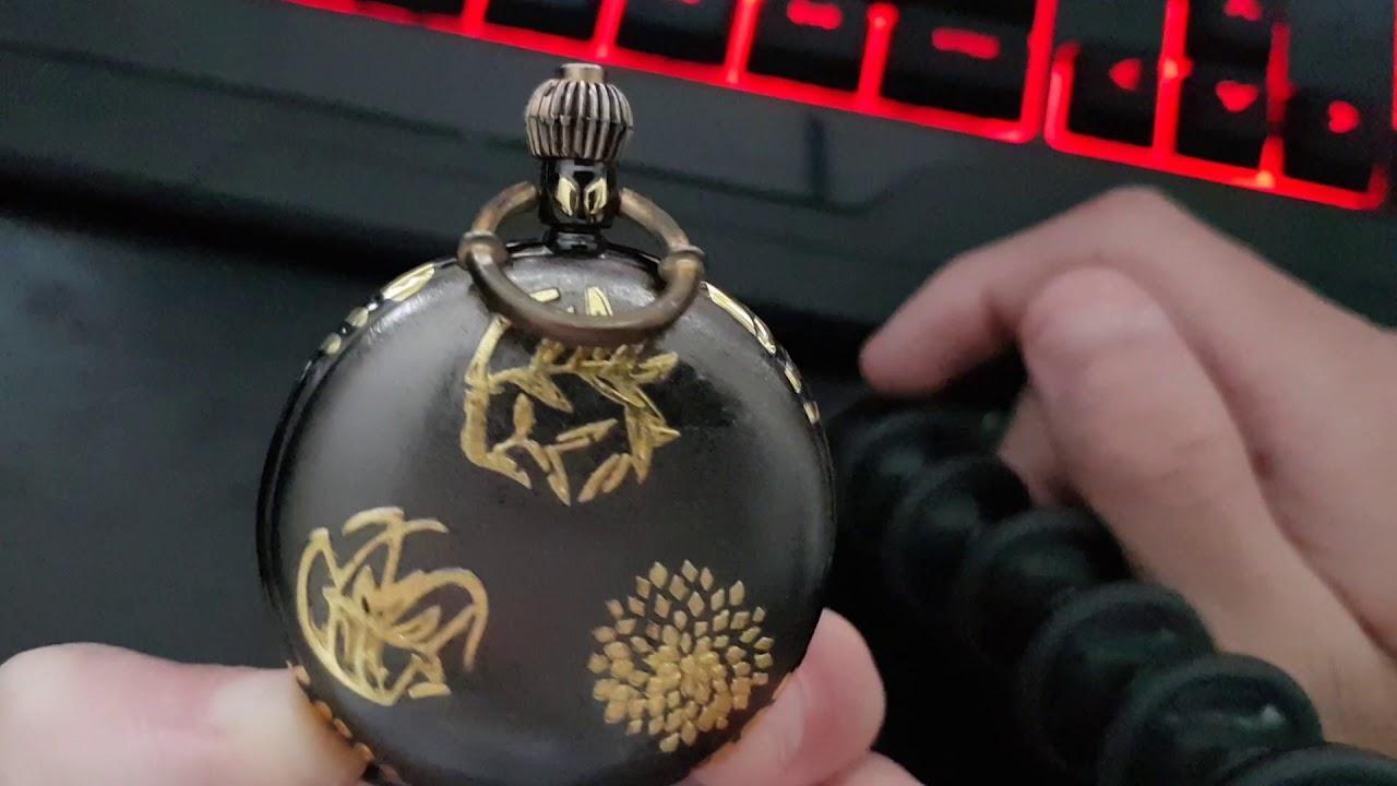 Meine erste Taschenuhr schwarz Gold