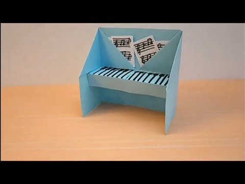 DIY EASY ORIGAMI TUTORIAL: HOW TO MAKE A PAPER PIANO | EASY PAPER CRAFTS FOR KIDS