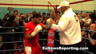 amir khan working out for julio diaz - EsNews Boxing