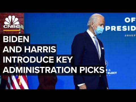 Biden and Harris introduce key cabinet and administration picks — 12/11/2020