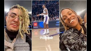 Rich The Kid and Lil Pump Go To Laker Game To See Lebron and AD