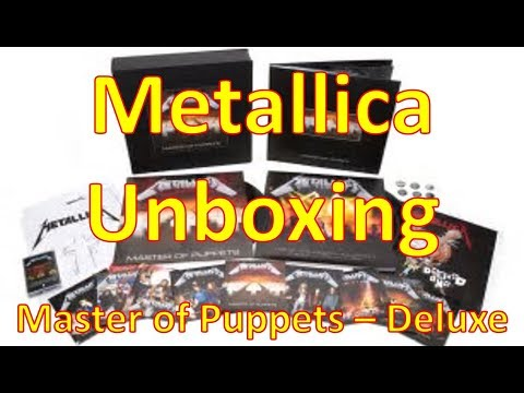 Metallica - Master of Puppets (Remastered Deluxe Box Set) | Vinyl CD DVD Unboxing