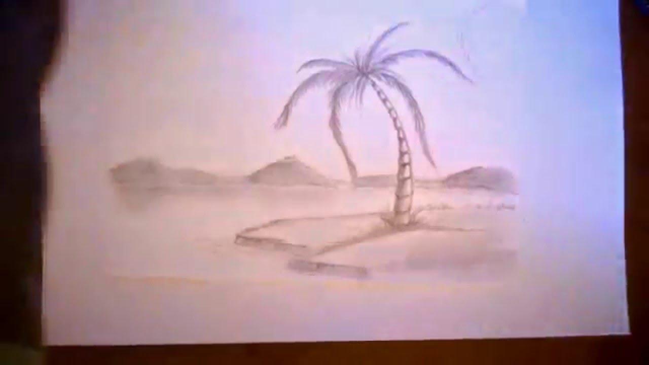 Como dibujar una palmera paso a paso  YouTube