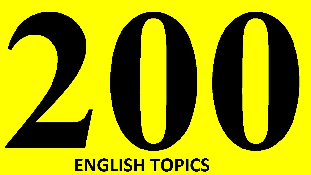 200 ENGLISH TOPICS for English speaking practice  Phrases in Engish  speaking in context