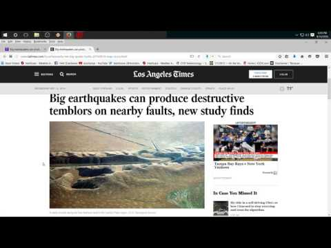 9/14/2016 -- Professionals talk of FORECASTING Earthquakes -- Saying EQ's are related over distance