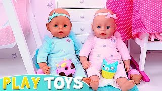 Play Baby Born Twin Dolls and Doctor Toys in the Nursery Room!