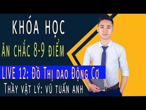 [LIVE 12]: Đồ Thị Đao Động Cơ - Khóa Học Ăn Chắc 8,9 điểm   thầy dạy Vật Lý Vũ Tuấn Anh