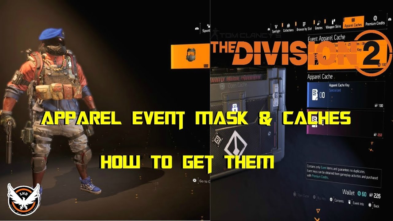 The Division 2 | Apparel Event Mask & Caches | How To Get Them