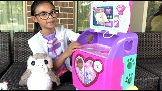 Disney Doc McStuffins Rescues Porg the Bird + NEW Rescue Pet Mobile Pretend Play | Toys Academy