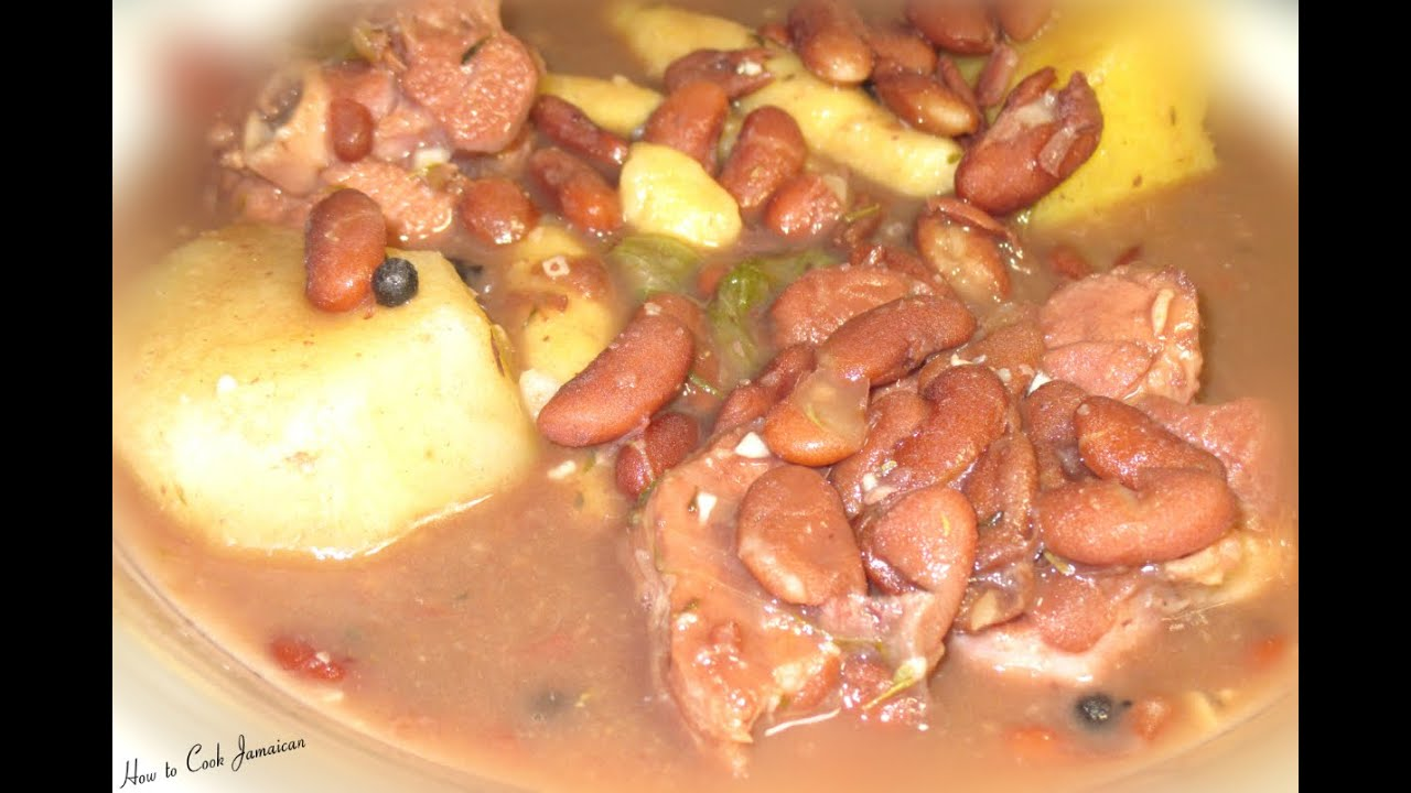 how to cook jamaican red peas soup recipe 2015  youtube