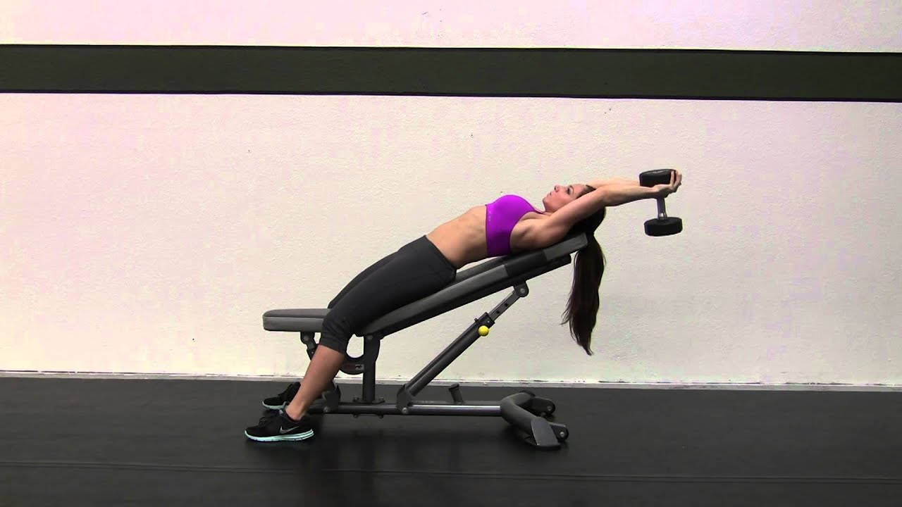 FitRanX - Dumbbell Pullover - Incline - Female - FitRanX Fitness ...