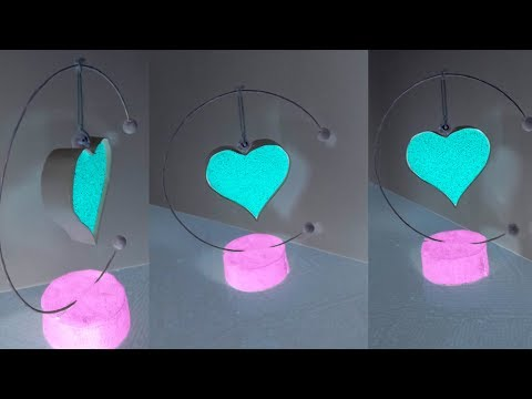Unique paper hanging heart 💟 for Valentine's day Special | DIY Paper Heart Showpiece | 2019