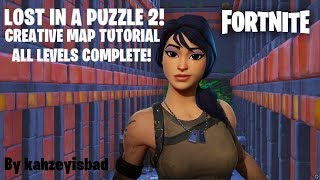 HOW TO COMPLETE LOST IN A PUZZLE PART 2 | FORTNITE CREATIVE