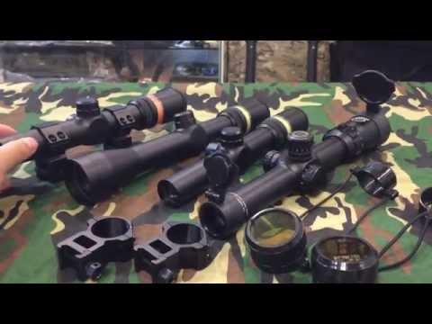 Fiber Optic Scope 1.5-6 x 24 for Airsoft Gun Game @ jkarmy