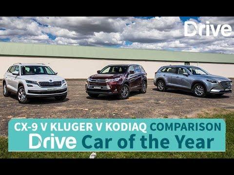 2017 Mazda CX-9, Toyota Kluger, Skoda Kodiaq   Best Family SUV