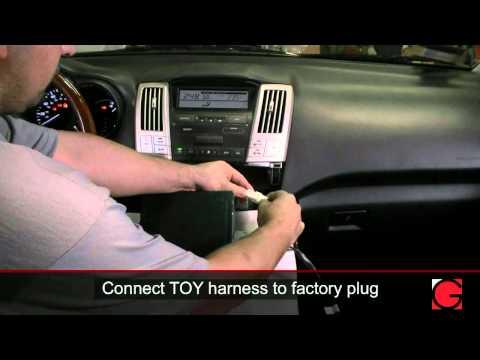 Lexus RX330 2006 GROM-USB2 iPod USB Bluetooth Adapter Interface Installation