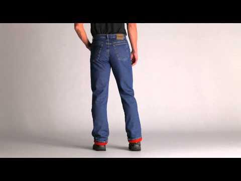 faf94cc2 Wrangler Rugged Wear Men's Stonewash Thermal Jeans - YouTube