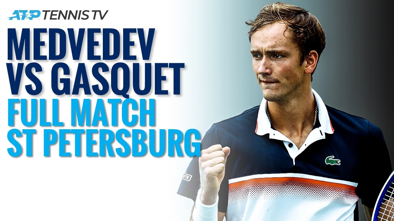 Daniil Medvedev v Richard Gasquet - Full ATP Tennis Match | St Petersburg 2020