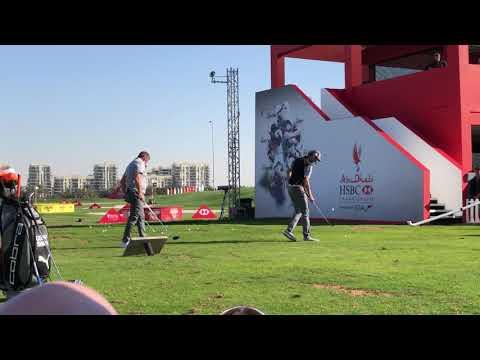 The Golf Trick Shot boys at the 2018 Abu Dhabi HSBC Golf Championship