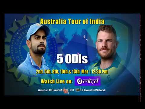 India Vs Australia 5 ODI'S Live Telecast | DD Sports