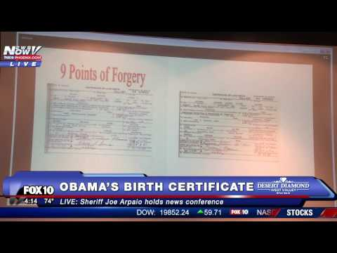 WOW: Sheriff Joe Arpaio Releases New Information on President Obama's Birth Certificate