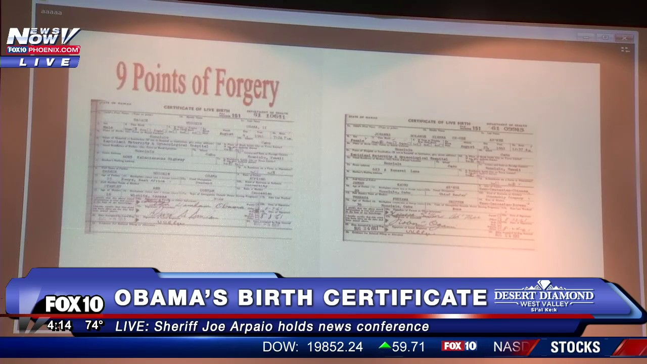 Wow sheriff joe arpaio releases new information on president wow sheriff joe arpaio releases new information on president obamas birth certificate fnn youtube 1betcityfo Image collections