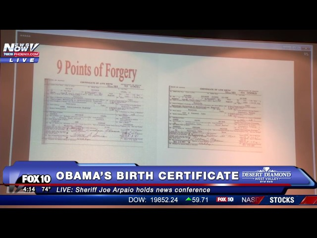 Arpaio concludes long-running \'birther\' investigation of Obama | TheHill