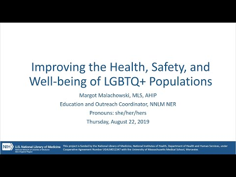 Improving the Health, Safety, and Well being of LGBTQ+ Populations, August 22, 2019 thumbnail