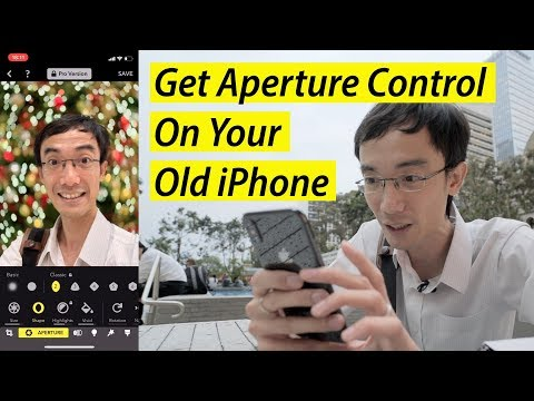 Get the iPhone XS aperture adjust on your iPhone X/7Plus/8Plus